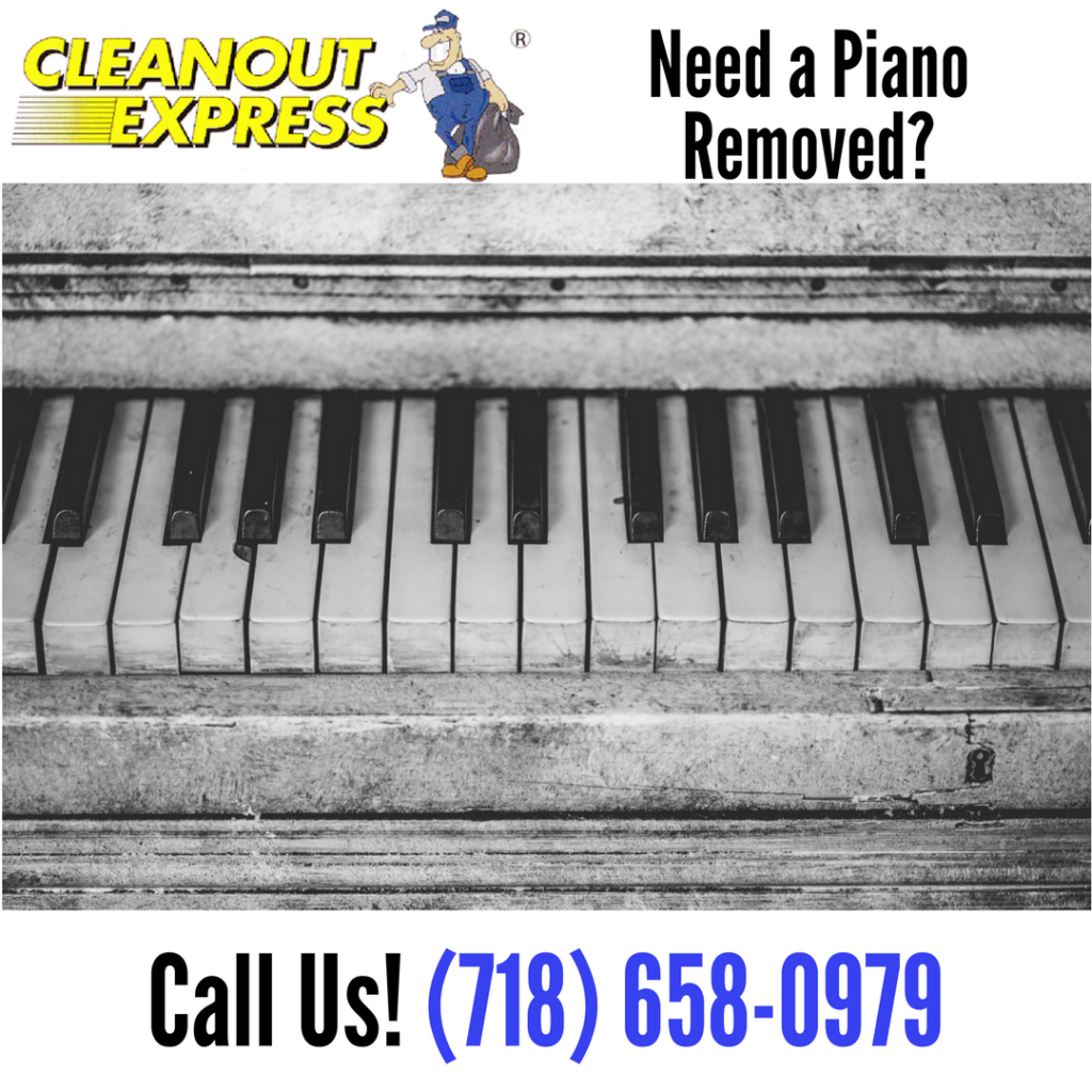Piano removal job service we provide cleanout express blog for How much space does a baby grand piano need